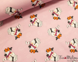 French Terry Pinguin Rosa 1