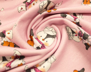 French Terry Pinguin Rosa 2
